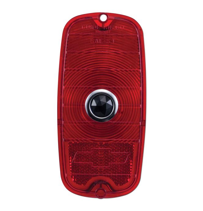 (1960-66)  Taillamp Lens Blue Dot-Fleet w/ Bowtie