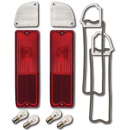 (1967-72) Taillamp & Backup Lens Kit-Flt/Blzr-Red