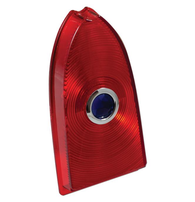 (1955-58)  Taillamp Lens-Cameo - Repro - Blue Dot each