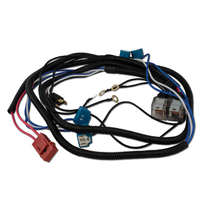 headlamp relay harness kit h4 4 headlamp system classic chevy GMC Truck Grills (58 91) headlamp relay harness kit h4 4 headlamp system