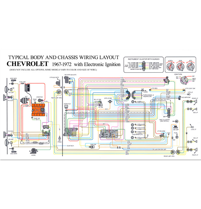 52 992 full color wiring diagram hei classic chevy truck parts 1968 Chevy C10 Wiring-Diagram at bayanpartner.co
