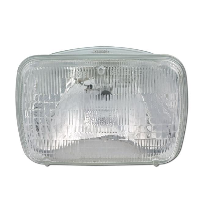 (1979-98)  Headlamp Bulb-Single-Rectangular-Halogen
