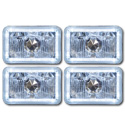 (1981-88)  H/L Bulb Set-4 LED Halo Halogen H4