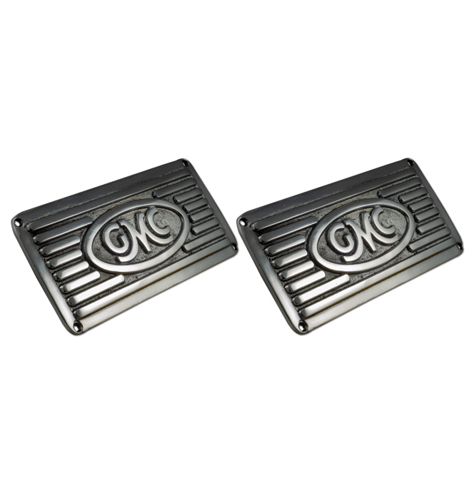 (1941-72)  Runningboard Step Plates- GMC - Polished