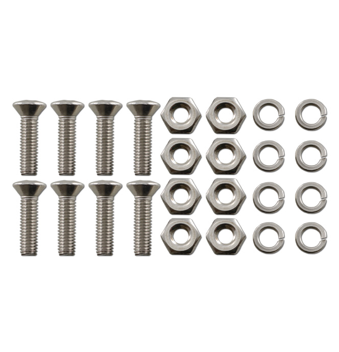 (1947-72)  Runningboard Step Plate Bolt Set - Stainless