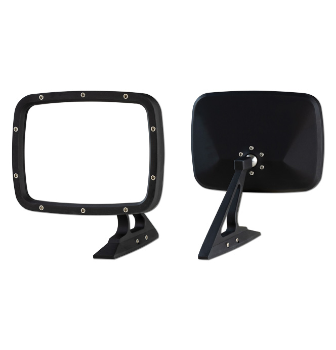 (1973-87)  Outside Mirror Assembly  pr. Flat Black
