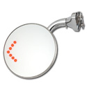 (1941-87)  Peep Mirror - with Curved Arm Round Head - LED