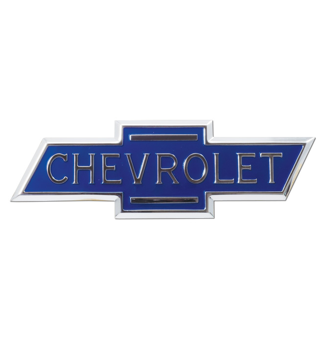 (1936-38)  Hood Side Emblem - Chevrolet - Pair