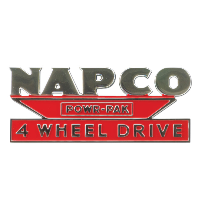 (1957-59)  Hood Side Emblem - Napco - each
