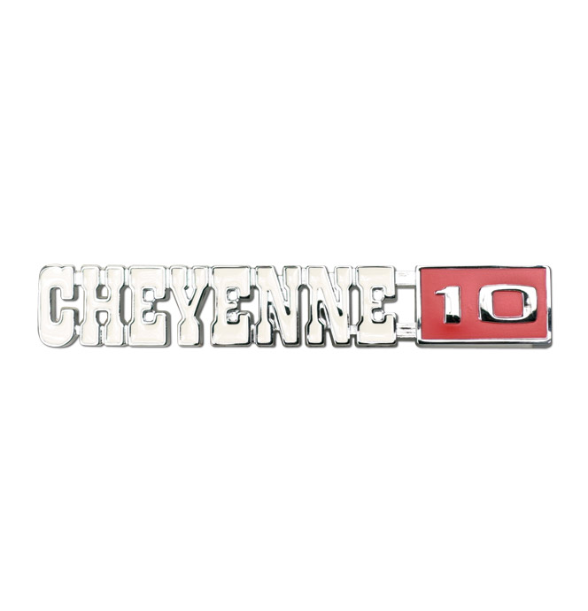 (1971-72)  Fender Emblem - Chevrolet - Cheyene 10 - Pair