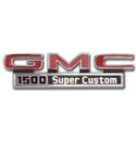 (1971-72)  Fender Emblem - GMC - 1500 Super Custom - pair