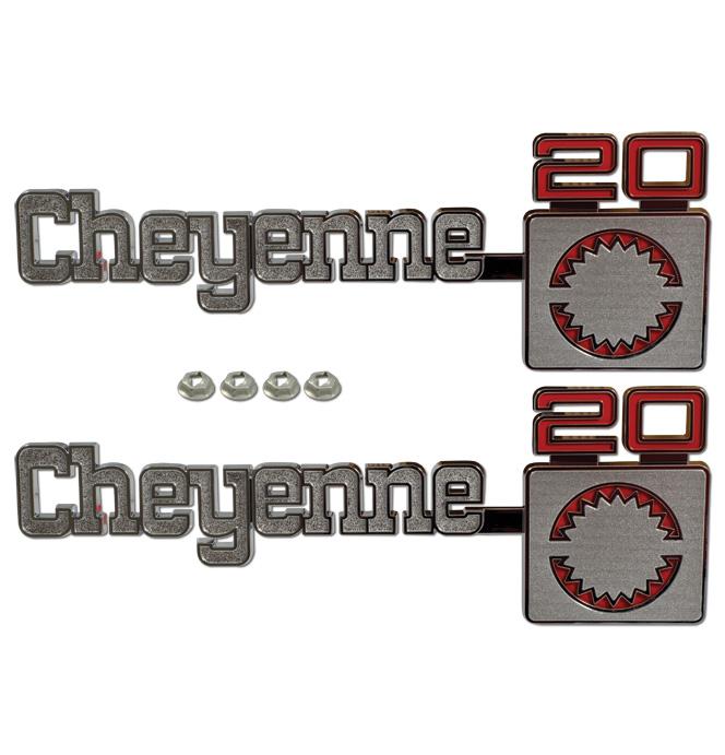 (1975-80)  Fender Emblem - Chevrolet - Cheyenne 20