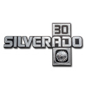 (1981-88)  Fender Emblem - Chevrolet - Silverado 30 pair