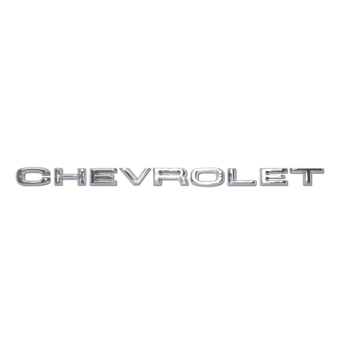 (1967-68)  Front Hood Letters - Chevrolet
