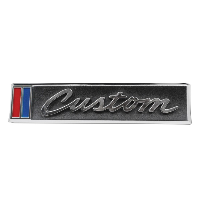 (1967-68)  Door Emblem - Chevrolet - Custom - pair