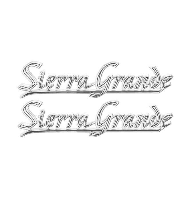 (1969-72)  Rear Quarter Panel Emblem-GMC-Sierra Grande - pair