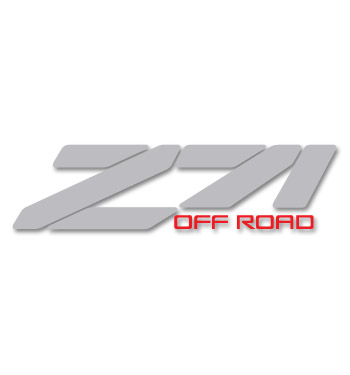 (1988-98)  Bedside Decal - Z71 - Red/Light Gray