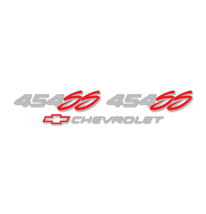 (1992-93)  Bedside Tailgate Decal -SS 454 & Bowtie W/Chevrolet