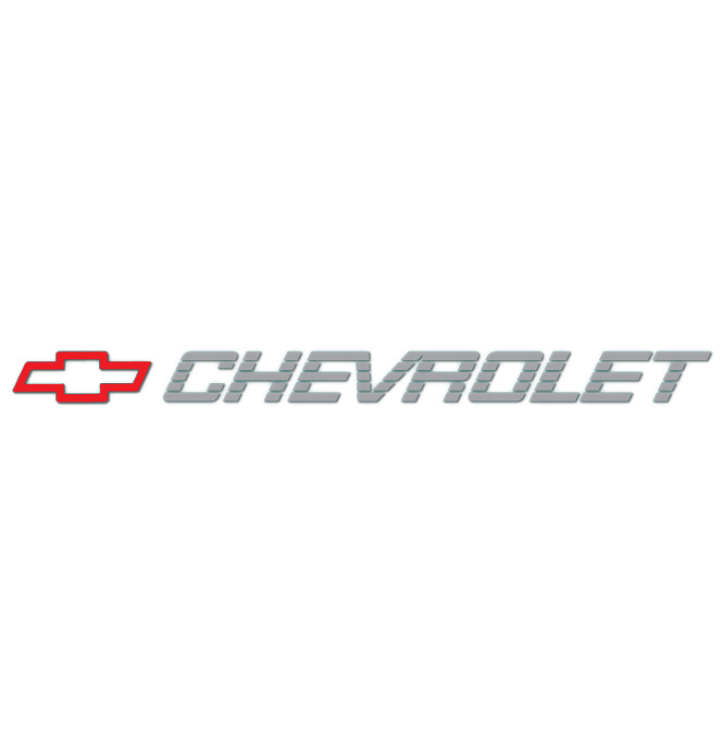 (1990-91)  Tailgate Decal Bowtie W/Chevrolet - Red/Silver
