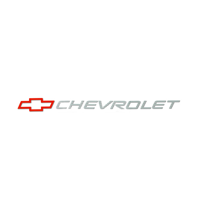 (1992-93)  Tailgate Decal Bowtie W/Chevrolet - Red/Silver