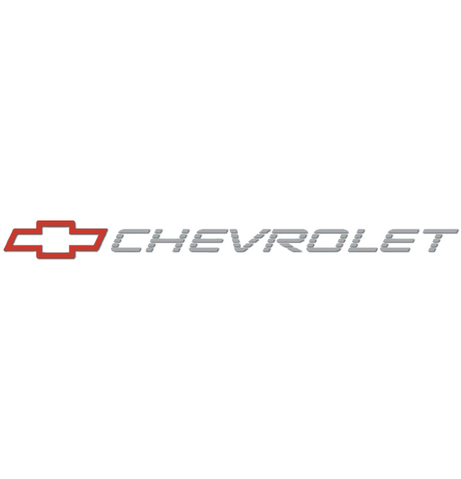 (1992-93)  Tailgate Decal Bowtie W/Chevrolet - Red/Charcoal