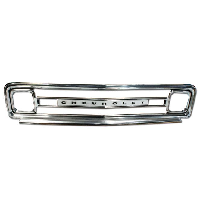 grill chevrolet outer reproduction classic chevy truck parts rh classicparts com 2013 Chevrolet Silverado Tailgate Rubber Chevrolet Tailgates and Boxes