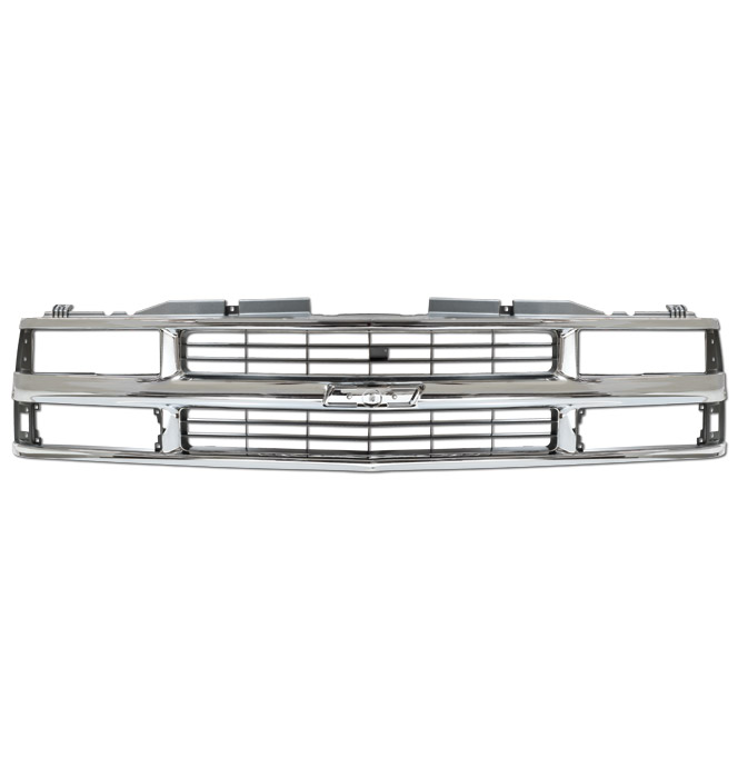 (1994-98)  * Grill - Chevrolet - Dual Headlamp - Chrome - Reproduction