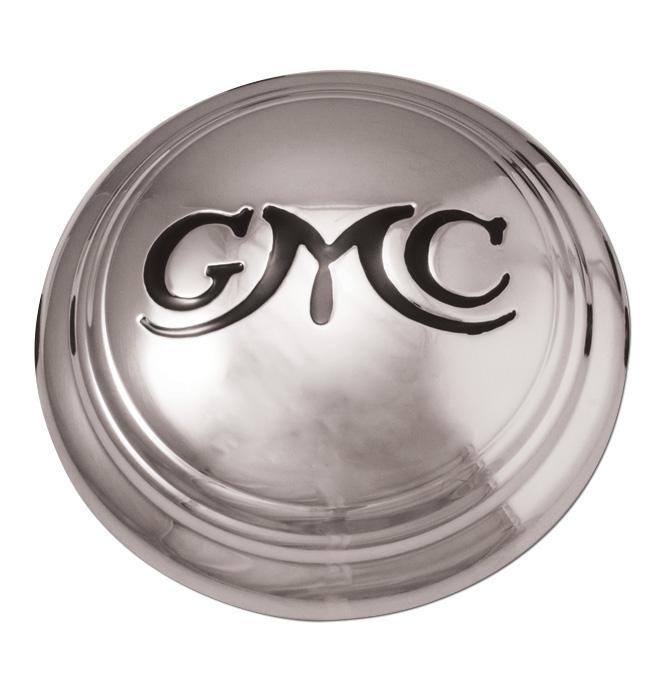(1936-46)  Hubcap GMC 1/2 Ton, w /Black Letters