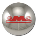 (1947-54)  Hubcap-GMC-1/2 Ton, w/Red Letter