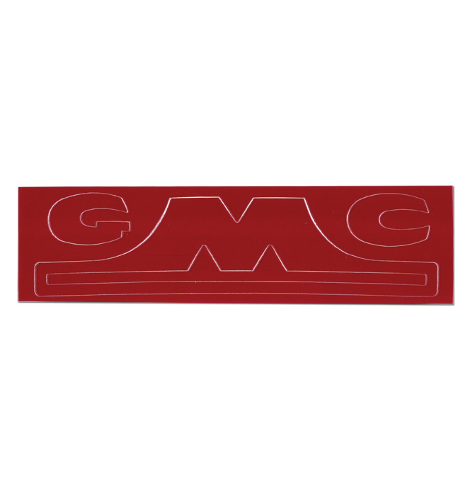 (1947-54)  Hubcap Decal - GMC-1/2 Ton, Red Letter