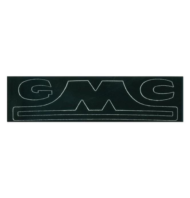 (1947-54)  Hubcap Decal-GMC-1/2 Ton, Black Letter