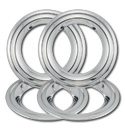 (1955-56)  Deluxe Wheel Trim Rings - Set of 4