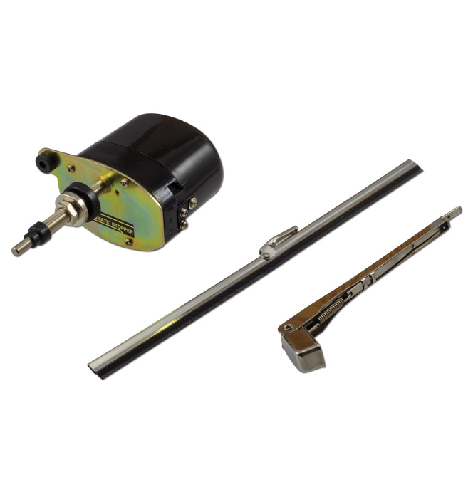(1936-46)  Wiper Motor-Electric Conversion Kit - 12 volt Black