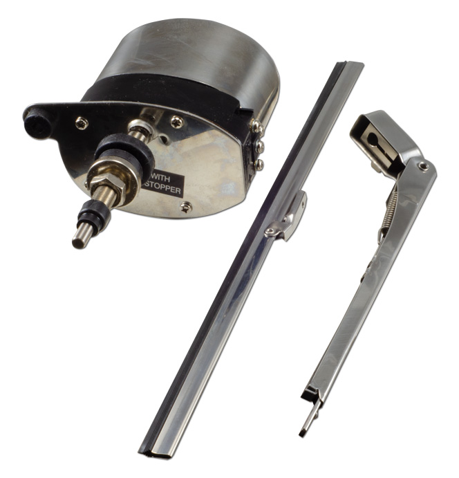 (1936-46)  Wiper Motor-Electric Conversion Kit - 12 volt Stainless