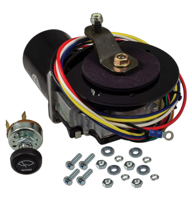 (1960-66)  Wiper Motor-Replacement Electric-Flat Placement