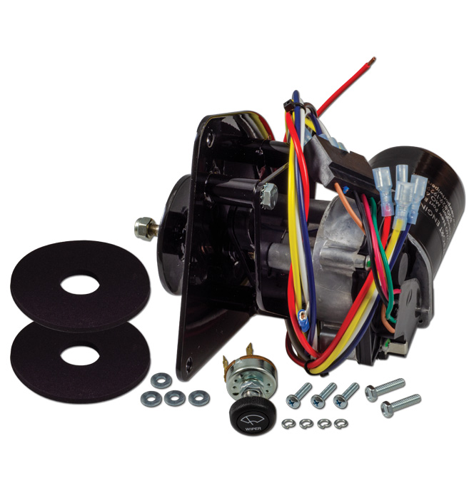 (1960-66)  Wiper Motor-Replacement Electric-Non-Flat Placement