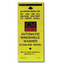 (1947-60)  Windshield Washer Decal- Bottle Bracket
