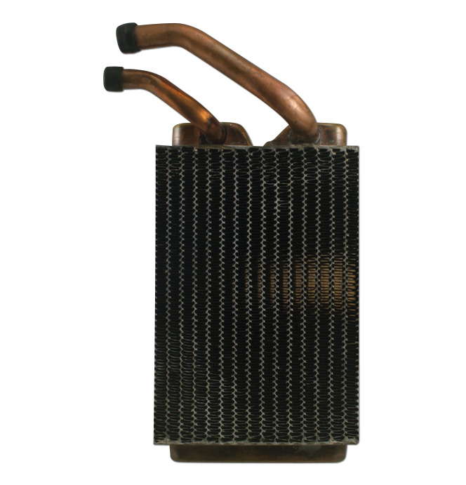 (1960-66)  Heater Core-Deluxe Heater -  Copper Brass