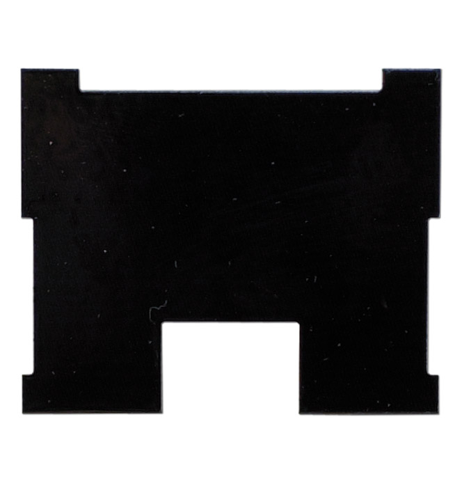 (1955-59)  Heater Control Lens Backing Pl