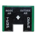 (1955-59)  Heater Control Face
