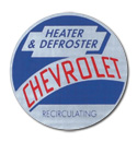 (1954-55)  Heater Mylar Decal - Chevy, Recirculating