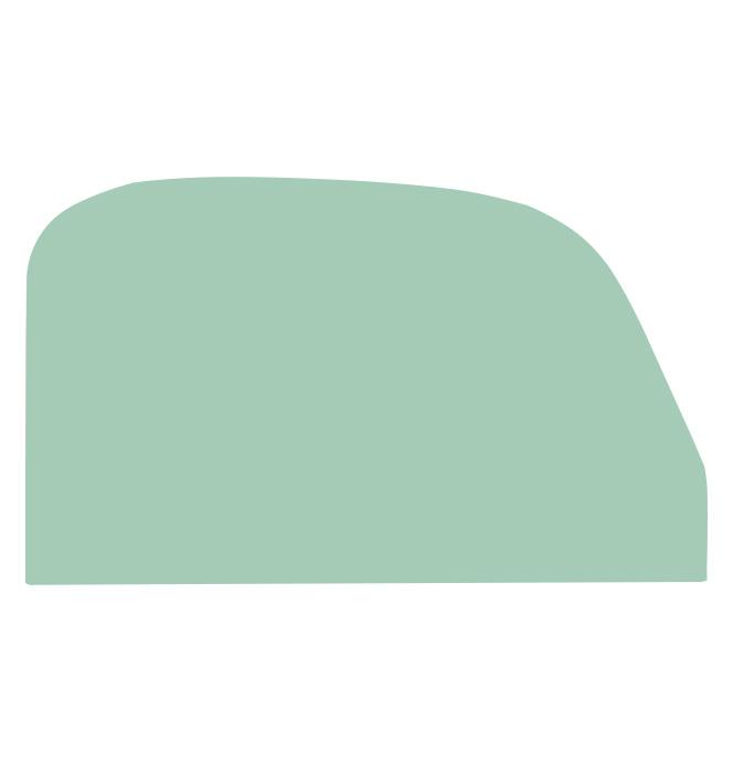 (1939-40)  * Door Glass - Green Tint