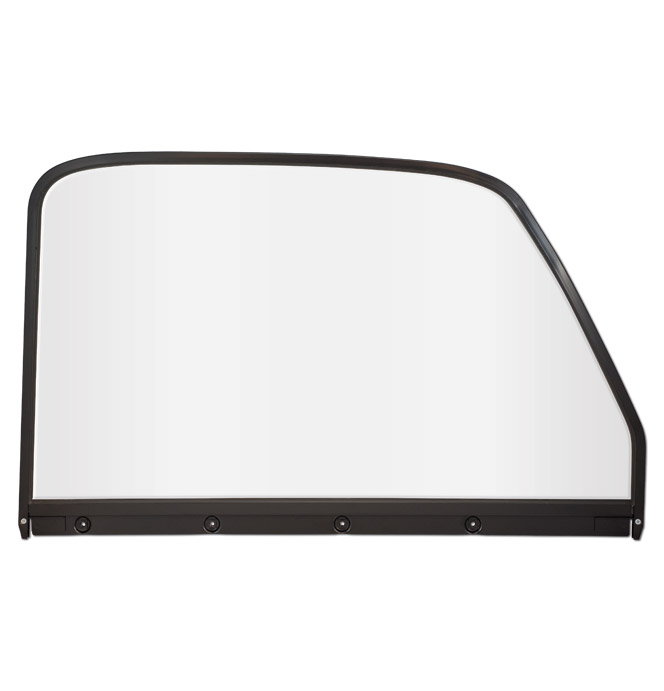 (1947-50) Door Window Glass & Frame - Painted - Left