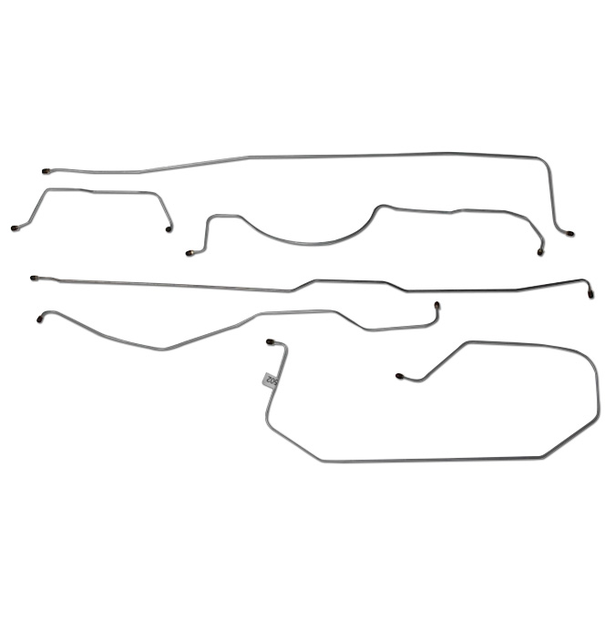 (1955-56) * Brake Line Set - 3/4 Ton Longbed  2wd 6pc set