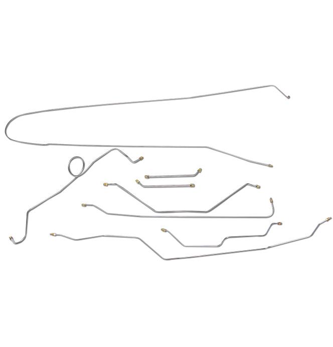 (1965)  * Brake Line Set - Longbed 2wd with Manual Drum Brakes 8 pc set