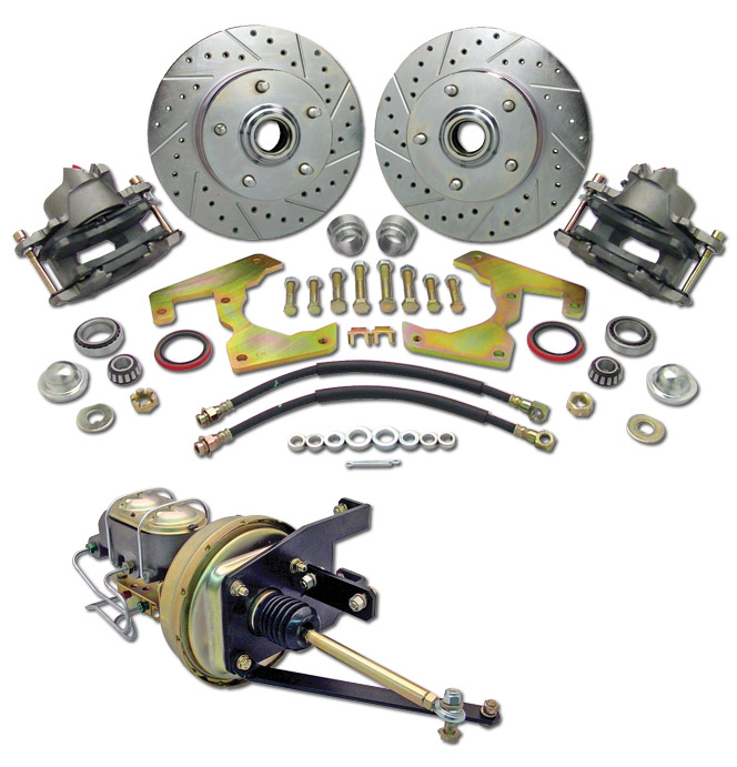 (1947-54) *Disc Brake Conversion Kit-5 Lug Complete w/Plain Rotors