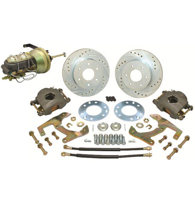 (1947-54) *Disc Brake Conversion Kit-6 Lug Complete w/ Plain Rotors