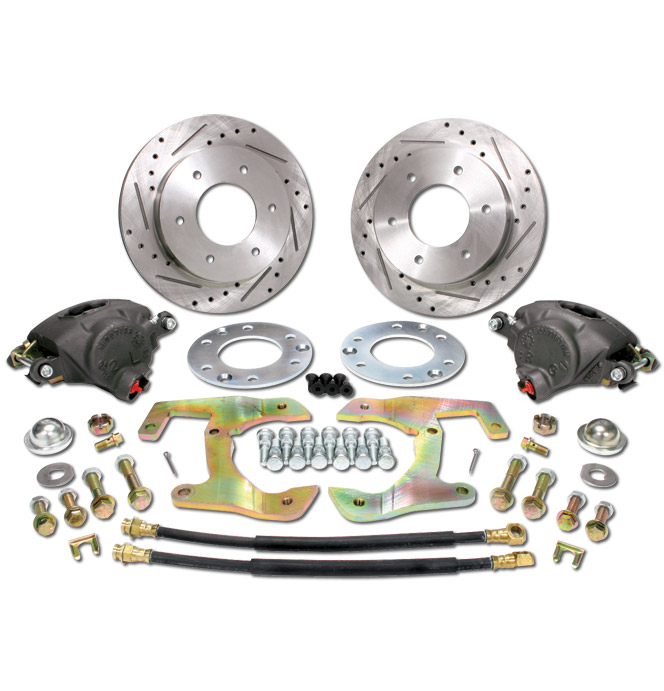 (1947-59) *Disc Brake Conversion Kit-6 Lug Wheel w/ Slotted & Drilled Rotors