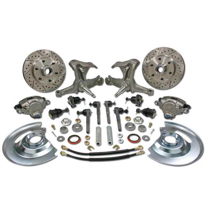 (1963-70) * Spindle Disc Brake Conversion Kit - Stock - 6 lug