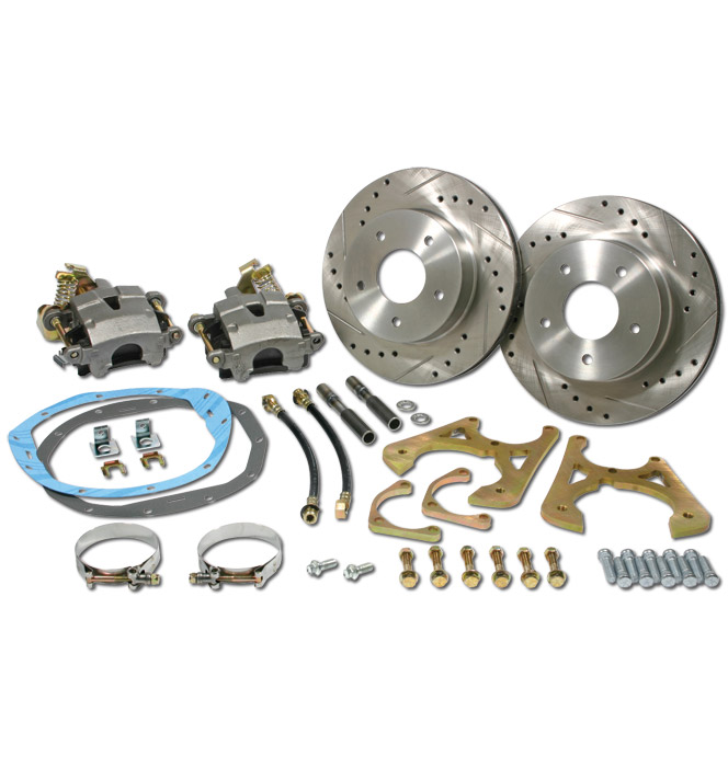(1947-59) *Rear Disc Brake Kit-GM 10 or 12 Bolt w/ Slotted & Drilled Rotors